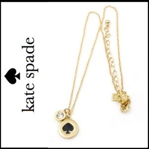 NWT KATE SPADE Spade & Crystal Charm Necklace